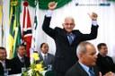 Fraga comemorando vitória para presidência da Câmara